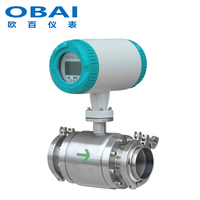 Sanitary clamp-type electromagnetic flowmeter